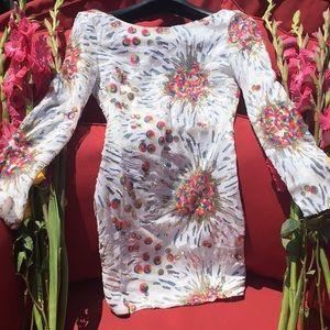 Dresses & Skirts - Mini Dress Unicorn Rainbow Sequin Size Small